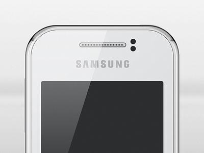 Samsung Galaxy Y illustration vector photoshop freebie