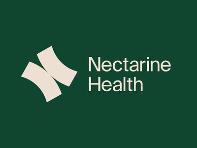 Nectarine Health Logotype brand identity design logo mark brand design branding logotype
