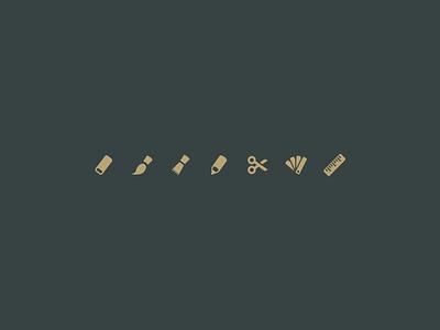 Entypo+ artistic tools entypo pictogram icon illustration