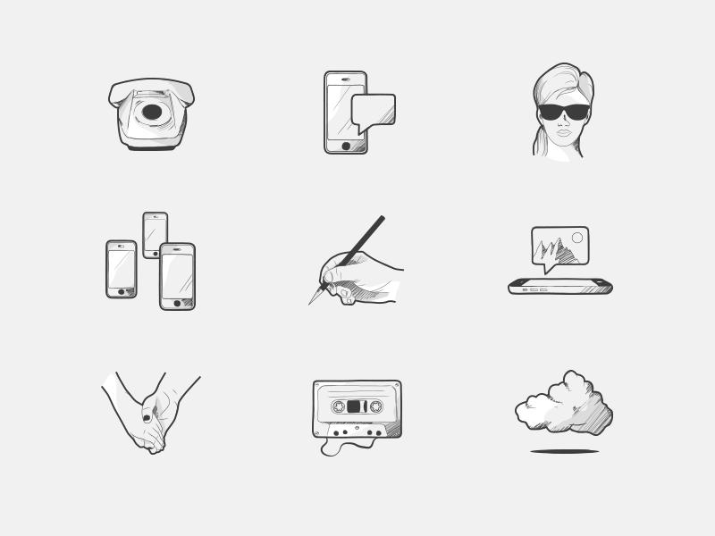 Voca brand illustrations