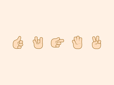 Voca Emoji Hands illustration vector emoji