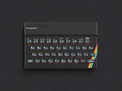 ZX Spectrum vector photoshop illustration