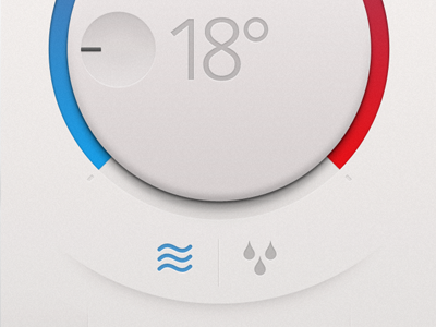 Thermostat App ui ux interface app iphone
