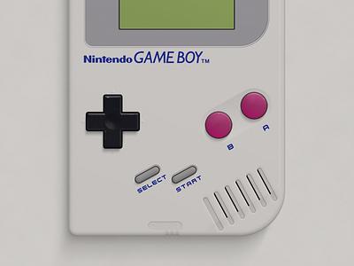 Nintendo Game Boy photoshop vector illustration