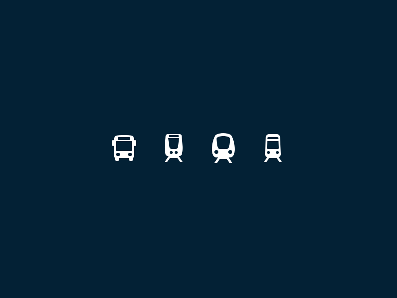 Stockholm Transportation Pictograms pictograms icons ux ui