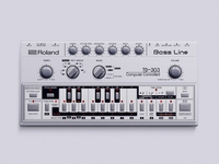 Roland TB-303 vector photoshop illustration