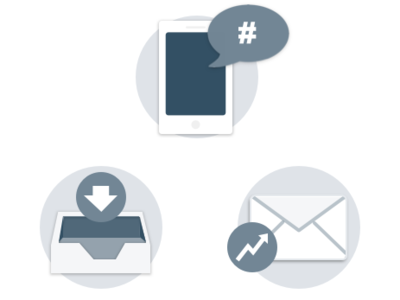 Greyscale Deliverability Icons deliverability email iconography