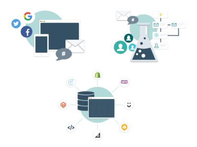 Messaging Presentation Graphics messaging iconography email marketing