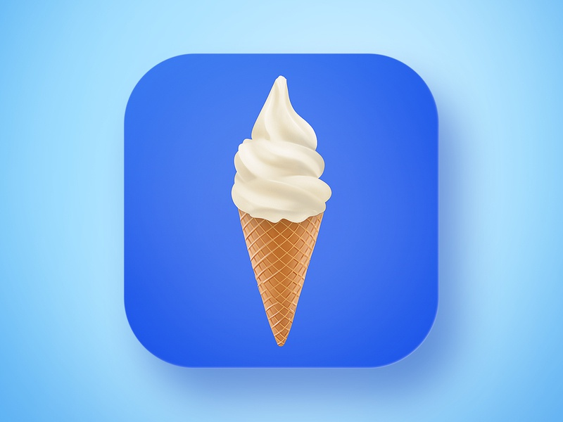 Ice Creamz Roll App icon illustration digital painting blue hypercasualgames casual game gamedev icecream iconapp marketing design icon game appstore app aso