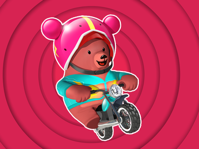 Excite Bear excite android ios animals free apps turnaround helmet motorcycle low poly game dev character