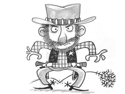 Sheriff! character far west sherif upa sketch humor