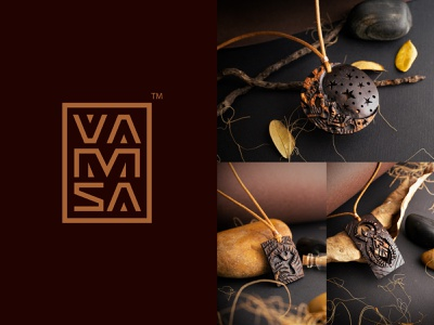 VAMSA art wear vamsa art wear sustainable fashion sustainable jewelry shop jewelry logo jewelry design logo illustration nature brand identity kerala india kochi shylesh bangalore