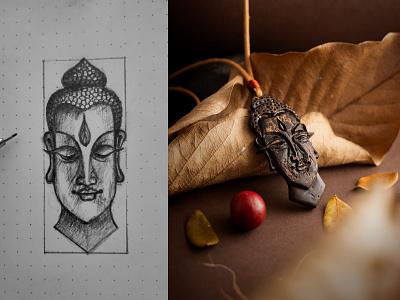 Vamsa Buddha buddhism craft crafts design jewelry pendant buddha illustration india kerala art kochi shylesh