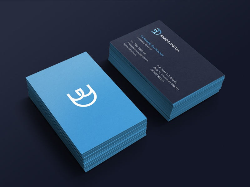 Bezos Business Card by SHYLESH - Dribbble