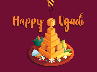 Ugadi 2018 illustration design art motion graphics animation goa kochi india bangalore graphic design design studio