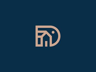 Dream Domicile shylesh monogram logo d monogram design art logomark goa kochi india bangalore graphic design