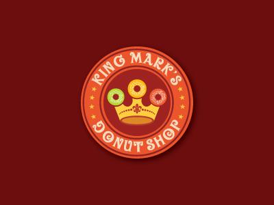 King Mark S Donut Shop india bangalore donuts shop food logos brand identity logo design shylesh brand rasa