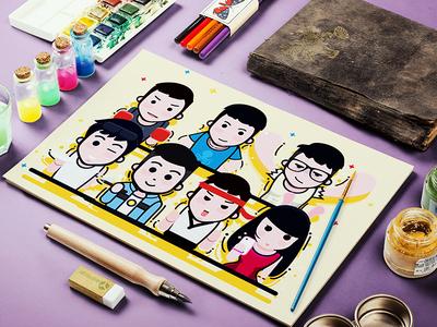 Designer friend Illustrator Design
