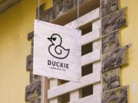 Duckie boba milk tea logo