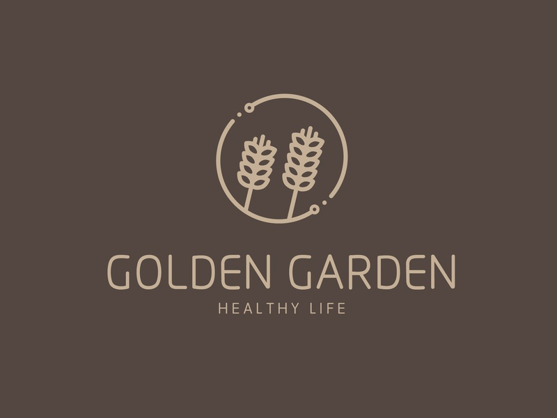 Golden Garden vi restaurant graphic fashion illustration vector logo design design brand logo a day branding logo identity graphic design