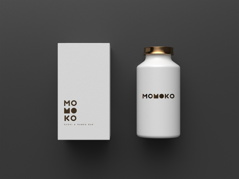 Momoko logo restaurant tea package mockup packaging package design graphic fashion brand vector logo design design logo a day logo identity graphic design branding