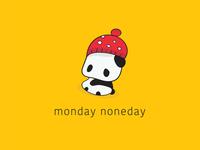 Monday Noneday Outline Draw