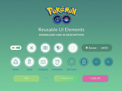 Pokemon Go Free UI Kit pokemon free ui kit pokemon go ui niantic nintendo pokemon go