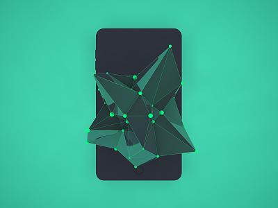 Atom Array Network abstract design creative web app mobile c4d atom network