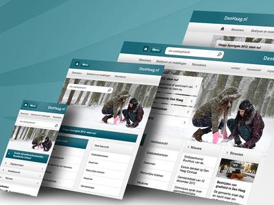 Responsive website Denhaag.nl den haag the hague webdesign