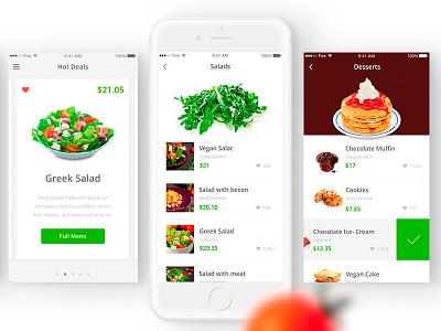 YourHealthyMeals Presentation Preview food behance ux design ui design ios development uiux ios ios app