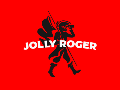 Logo for JOLLY ROGER bar beach pirate