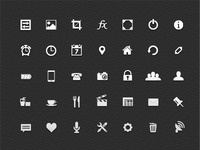 Free vector icons (.psd)
