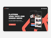 Jobner teaser amsterdam bounce wiggle android ios iphone mobile logo icon free motion animation ux website web design responsive ui product