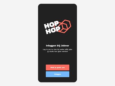 Jobner app transitions coffee trim path logo animation ios spinner swipe loader skeleton splash download graphic motion iphone app ux ui jobner lottie after effects