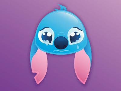 Emoji Stitch cute stitch sad emoji disney