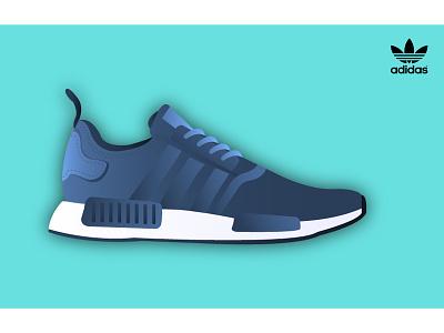 Adidas // NMD-R1 men blue nmd baskets originals adidas