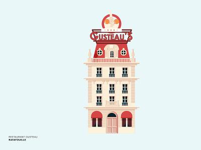 Disney Ratatouille design adobe illustrator gusteau house restaurant disney world disney art building movie ratatouille disney