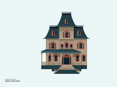 Disney - Manoir hanté paris manoir ghost house disney art disney world disneyland disney