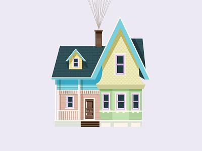 """UP"" - Disney house disney world disney art lahaut colors house illustration disney up"