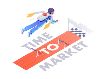 Time to Market characters affinity character illustration isometric rboy rocketboy