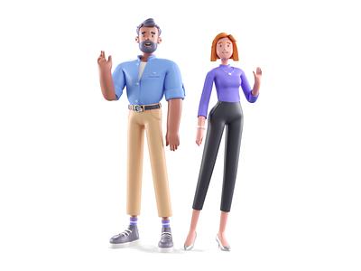 Stiilt - Premium Carsharing #2 10clouds carsharing visual render c4d model t-pose illustration character design 3d