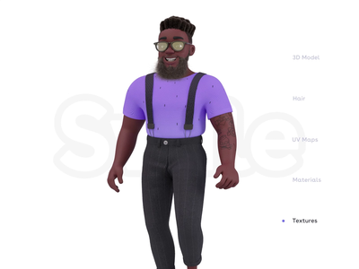 Swile - Character walk cycle visual branding design character swile tattoo animation rigging walk cycle illustration c4d 3d 10clouds