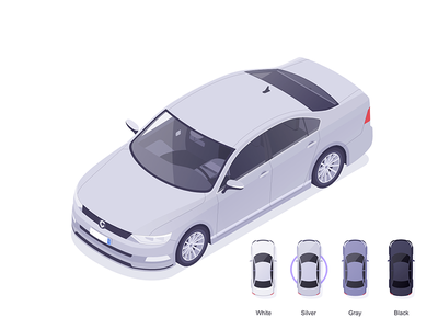 Cabify selector app designer affinity vehicles car illustration isometric rocketboy rboy
