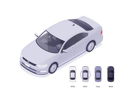 Cabify selector app designer affinity vehicles car illustration isometric rocketboy rboy
