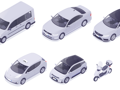 Cars vehicles selector rocketboy rboy isometric illustration designer car app affinity