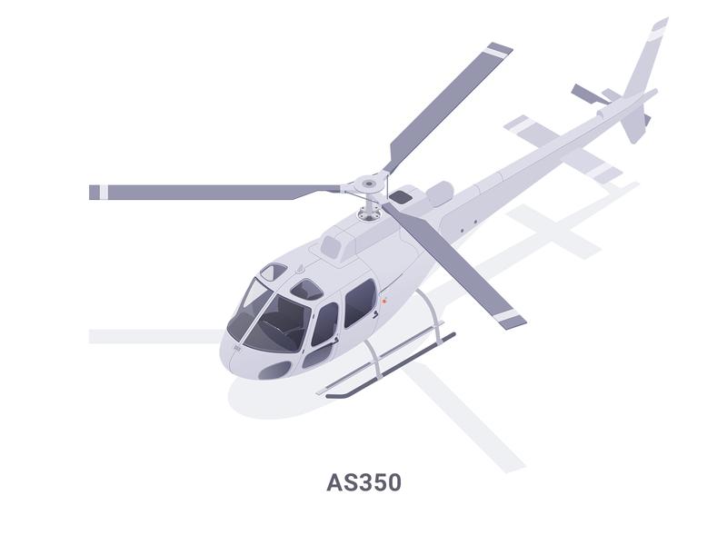 Helicopter cabify icon helicopter affinity illustration isometric rboy rocketboy