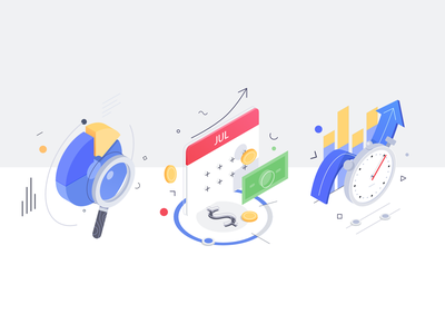 Wiggle icons coin diagrams money finance icons office affinity illustration isometric rboy rocketboy