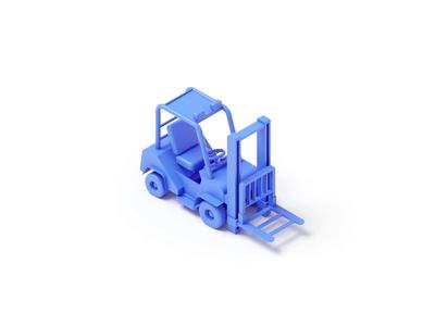 Forklift vray render forklift model c4d 3d illustration isometric rboy rocketboy