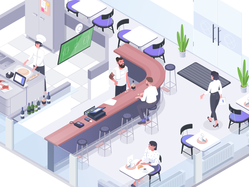 Cardonet #1 vector design hotel office affinity character illustration isometric rboy rocketboy