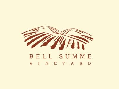 Artboard 5 typography illustration bold branding vector logomark design type exploration vineyard hills mountains logo